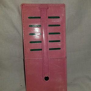 # B8,359 Abas Pink Slim Credit Card File Wallet